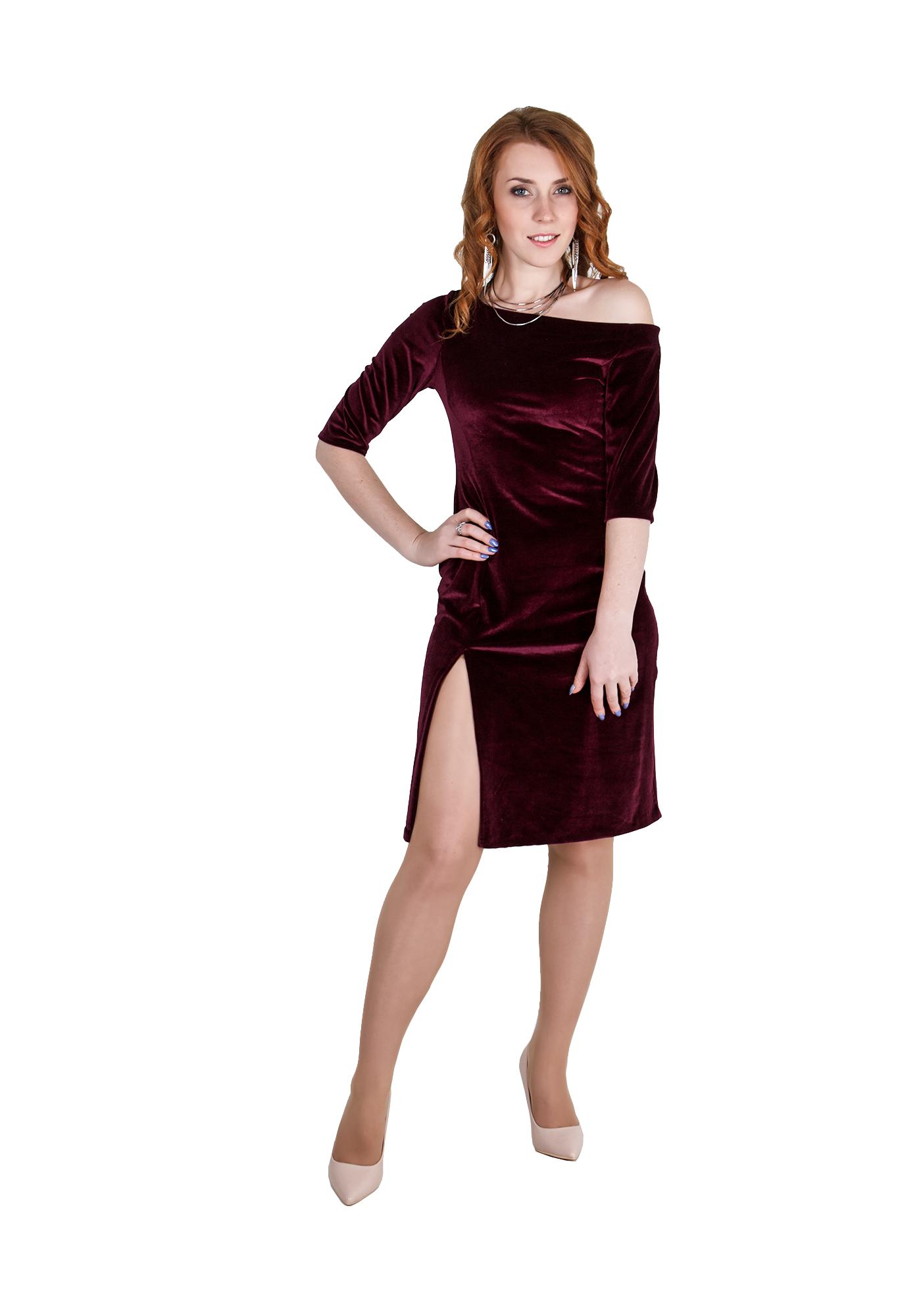 Сукня велюрова з розрізом  782b67a457715