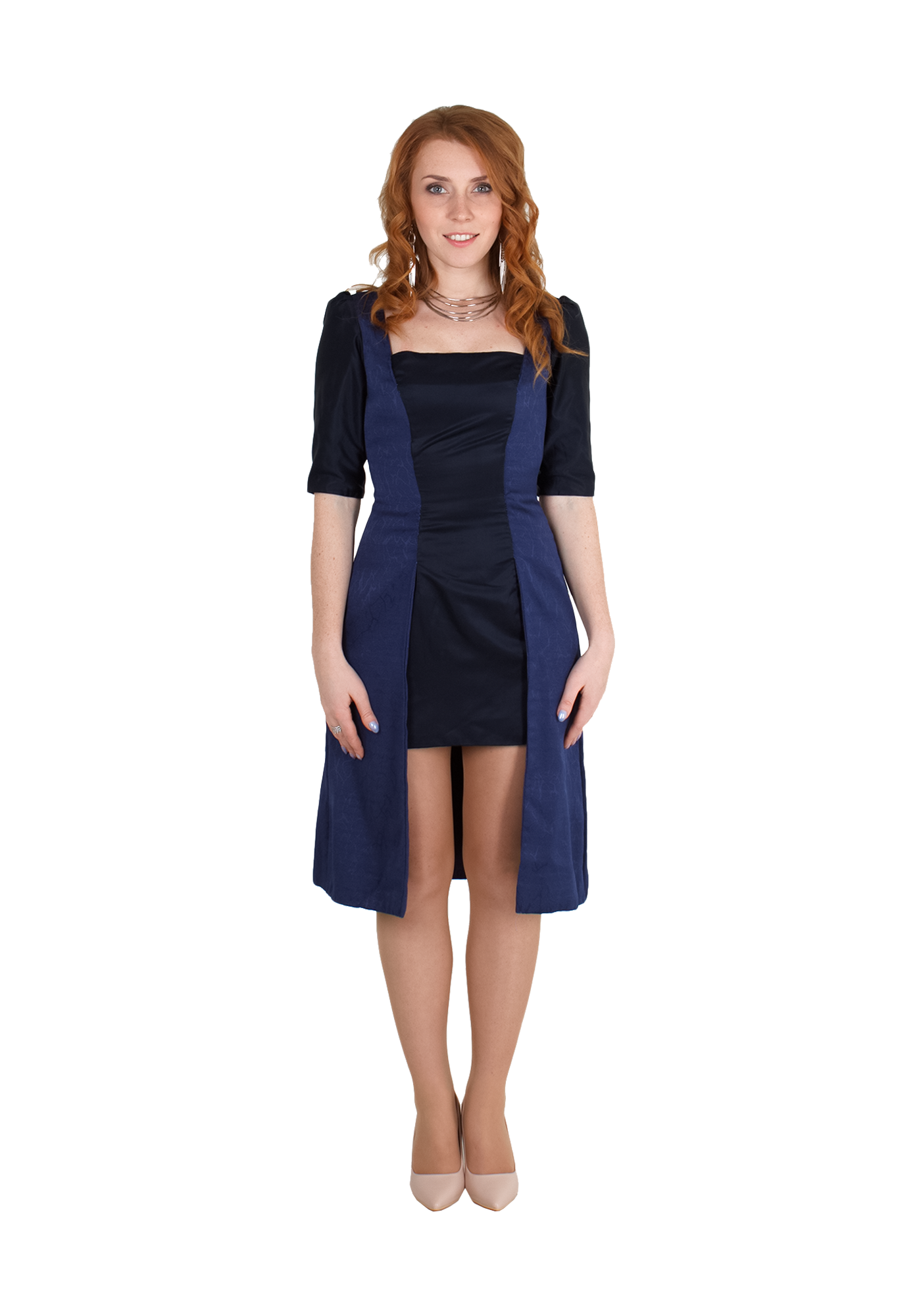 Сукня-плащ з асиметричним низом  52d2ce8f9ddd7
